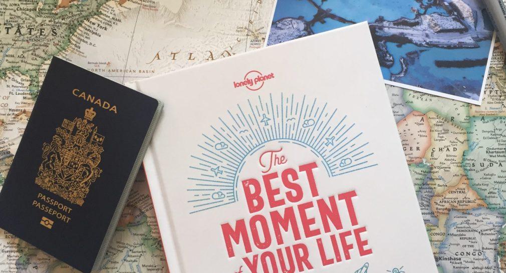 Livre sur le voyage The Best Moment of Your Life