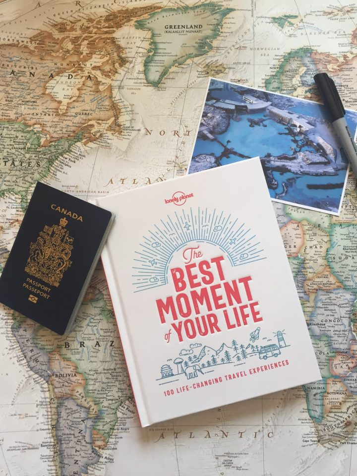 Livre sur le voyage The Best Moment of Your Life