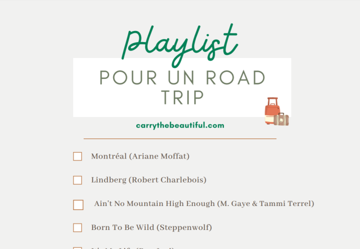 playlist pour un road trip