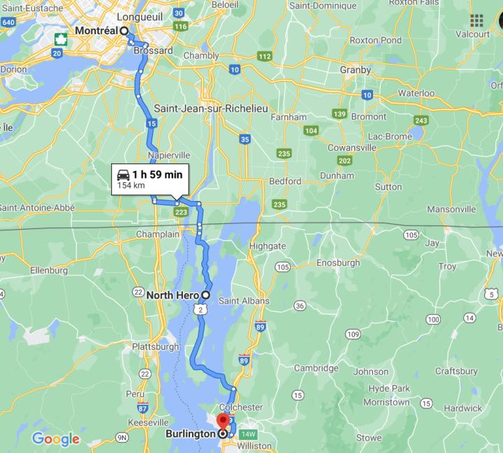itinéraire-burlington-montreal